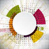 Abstrakter Hintergrund von komplexen Elementen auf dem Thema des Internets Stockfotografie