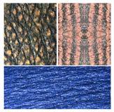 Abstrakter Hintergrund von Kristallen und von Polygonen stock abbildung