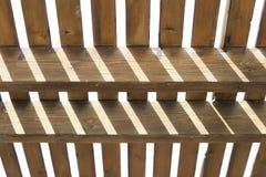Abstrakter Hintergrund von Mustern der Vertikale und des horizontalen Holzes Lizenzfreies Stockfoto