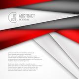 Abstrakter Hintergrund von Rotem, von Weiß und von Schwarzem Stockbilder