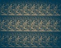 Abstrakter Hintergrund von Sandstein Carvings nahtlos von Engel wer Lizenzfreie Stockfotos