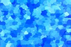 Abstrakter Hintergrund von Stellen von blauen Tönen Stockbilder