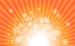 Abstrakter Hintergrund von Sternexplosionsstrahlen Stockbild