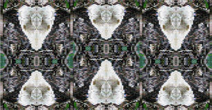 Abstrakter Hintergrund von stilisierten Schädeln lizenzfreie abbildung