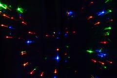 Abstrakter Hintergrund von unscharfen varicolored Lichtern lizenzfreie stockbilder