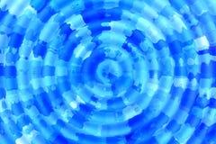 Abstrakter Hintergrund von unterschiedlichen Kreisen auf dem Wasserweiß mit blauen Tönen Stockfotografie