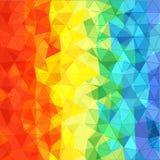 Abstrakter Hintergrund von verschiedenen Farbdreiecken Stockfoto