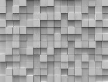 Abstrakter Hintergrund - weiße Farbenwürfel vektor abbildung