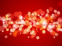 Abstrakter Hintergrund - Weihnachtsleuchten Lizenzfreies Stockfoto