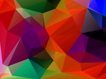 Abstrakter Hintergrund, welche aus Dreiecken besteht Stockfoto