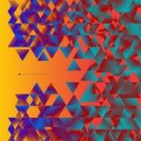 Abstrakter Hintergrund, welche aus Dreiecken besteht Stockbilder