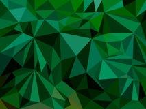Abstrakter Hintergrund, welche aus grünen Dreiecken besteht Stockfotografie
