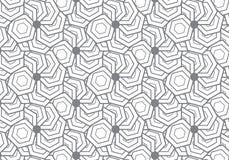 abstrakter Hintergrund Wiederholen geometrisch mit sechseckigem elem Lizenzfreies Stockfoto