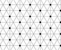 abstrakter Hintergrund Wiederholen von geometrischen Fliesen mit dünnem hexa Stockfotos