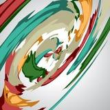 Abstrakter Hintergrund, wirbelnde Linien, bunte Vektorillustration Stockfotografie