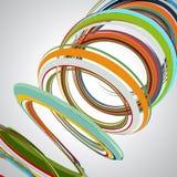 Abstrakter Hintergrund, wirbelnde Linien, bunte Vektorillustration Lizenzfreies Stockbild