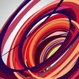 Abstrakter Hintergrund, wirbelnde Linien, bunter Vektor Stockfoto