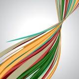 Abstrakter Hintergrund, wirbelnde Linien, bunter Vektor Stockfotos