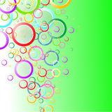 Abstrakter Hintergrundfrühling mit Farbkreisen Stockbild