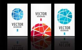Abstrakter Hintergrundsatz des Vektors Lizenzfreie Stockfotos