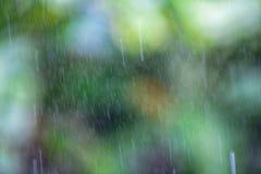 Abstrakter Hintergrundtropfen des Regens mit natürlichem Hintergrund bokeh Unschärfe Lizenzfreie Stockfotografie