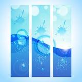 Abstrakter Hintergrundvorsatz mit Wasserwelle Stockfoto
