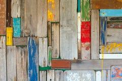 Abstrakter hölzerner Wandhintergrund Stockfotografie