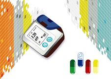 Abstrakter hoher Blutdruck Stockfotos