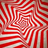 Abstrakter hypnotischer Retro- Hintergrund. Vektor lizenzfreie abbildung