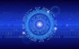 Abstrakter industrieller Hintergrundkreis im Blau färbt Unternehmensartbroschüren und anderes Netz oder Druckerzeugnisse für corp lizenzfreie abbildung