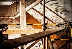 Abstrakter industrieller Innenraum Stockfoto