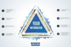 Abstrakter infographic Hintergrund mit geometrischen Formen Vektor Abbildung