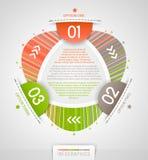 Abstrakter infographics Entwurf stock abbildung