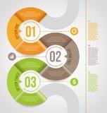 Abstrakter infographics Schablonenentwurf Stockbild
