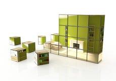 Abstrakter Innenaufbau Stockbilder