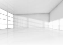 Abstrakter Innenraum, weißer leerer Raum mit Tageslicht vektor abbildung