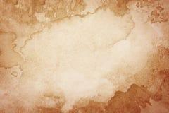 Abstrakter künstlerischer brauner Aquarellhintergrund stockbilder