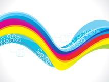 Abstrakter künstlerischer bunter Wellenhintergrund Stockbild