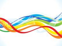 Abstrakter künstlerischer bunter Wellenhintergrund Stockfoto