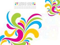 Abstrakter künstlerischer colorfull florel Hintergrund Lizenzfreie Stockfotos
