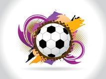 Abstrakter künstlerischer colorfull Fußballhintergrund Lizenzfreie Stockbilder