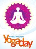 Abstrakter künstlerischer internationaler Yogatag Lizenzfreie Stockfotografie