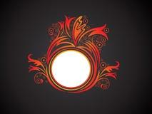 Abstrakter künstlerischer kreativer orange Blumenkreis Lizenzfreie Stockfotografie