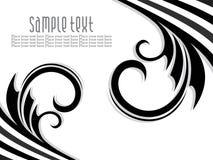 Abstrakter künstlerischer schwarzer florel Hintergrund Stockbilder