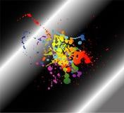 Abstrakter künstlerischer schwarzer Hintergrund von buntem Stockbild