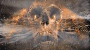 Abstrakter künstlerischer Seelen-Grafik-Hintergrund Angel Of Death Inhalings A vektor abbildung