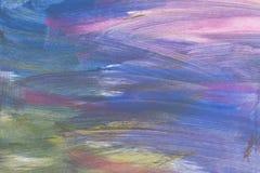 Abstrakter künstlerischer strukturierter handgemalter Hintergrund auf Segeltuch Lizenzfreie Stockfotografie