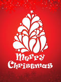 Abstrakter künstlerischer Weihnachtsbaumhintergrund Stockfotografie