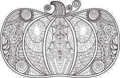 Abstrakter Kürbis mit hohem Detail für Malbuch Stockfoto
