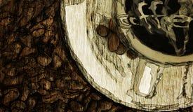 Abstrakter Kaffeehintergrund stock abbildung